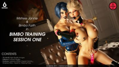 Miki3DX - Bimbo Training Session One