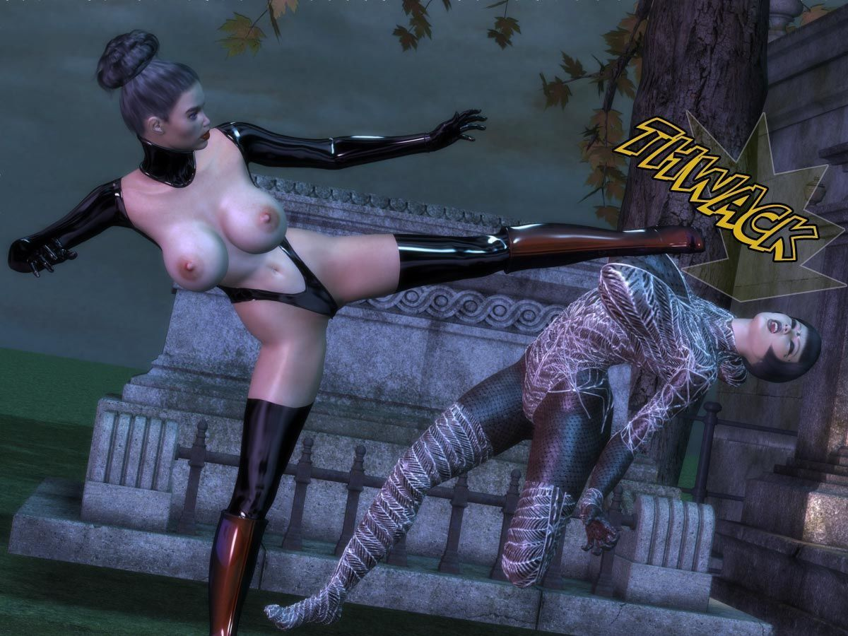 [Dr. Robo / Trishbot / Finister Foul] Halloween Havoc: Black Magic Woman - part 3