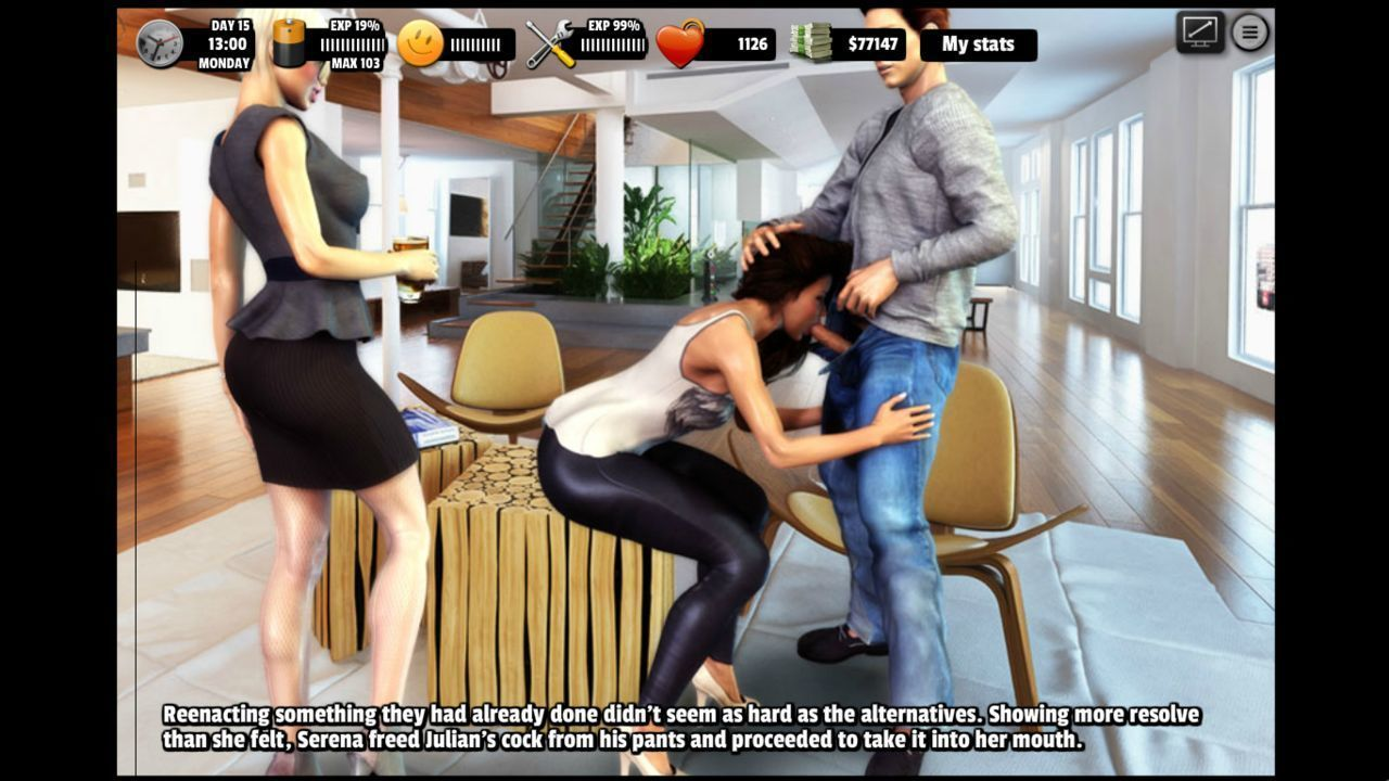 [Lesson of Passion Gold - Lop gold] Living with Serena FF: Threesomes - part 3