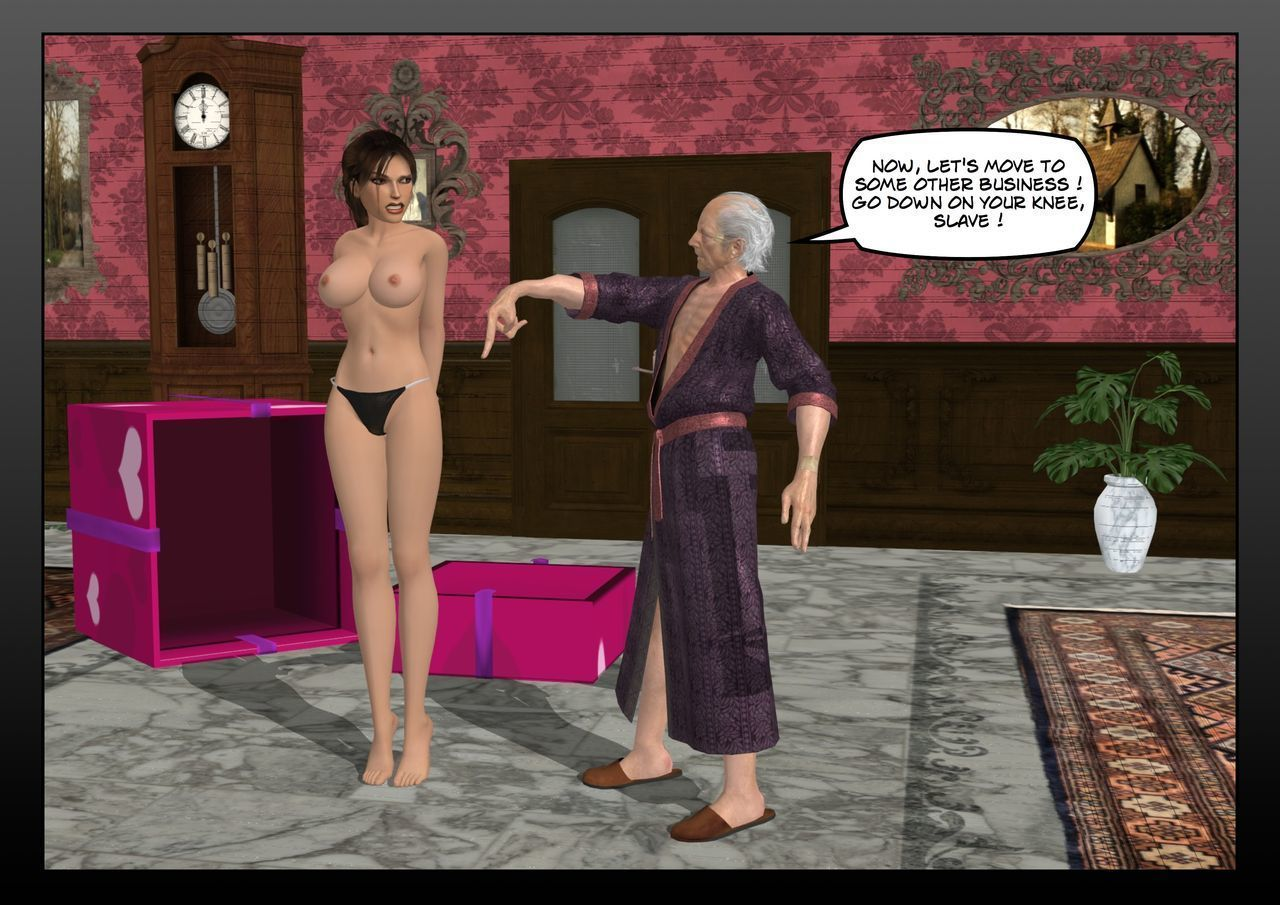 Lara Croft in the hands of the old pervert - part 2
