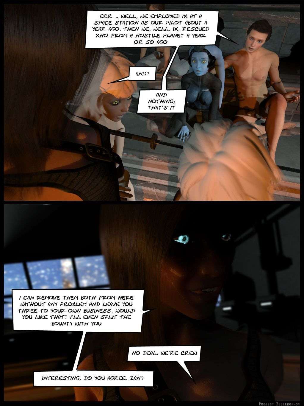 Project Bellerophon Comic 18: Shadows and Dust - part 2