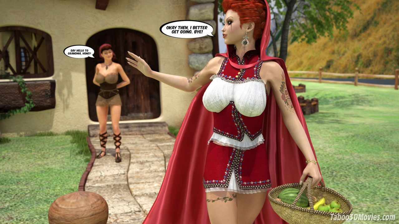 The amazing sex adventures of busty Red Riding Hood (Animated)