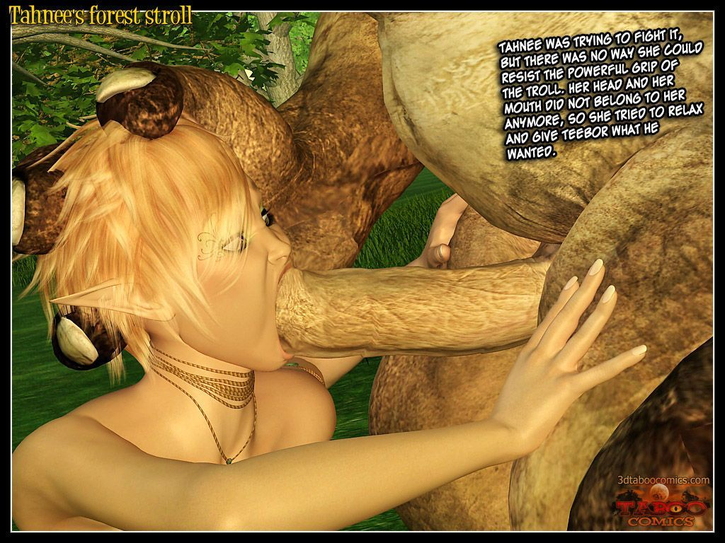 (taboo comics) Tahnee\'s forest stroll - part 2