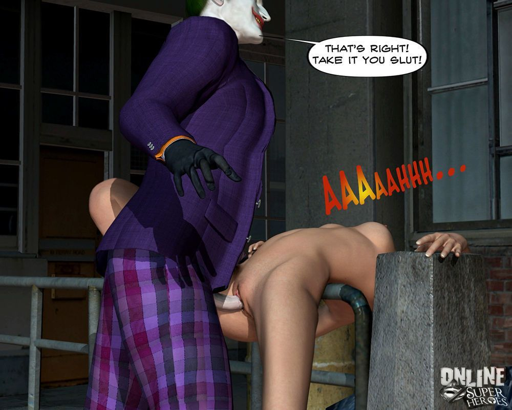 [Online Superheroes] Joker bangs a hot babe in the alley (Batman)