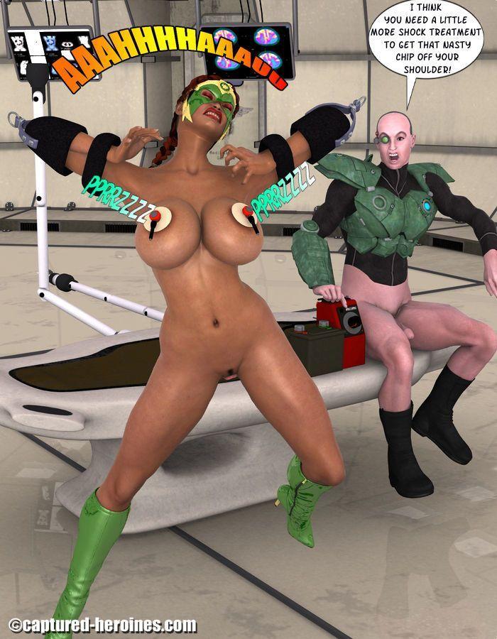Trapped super heroine captured porn