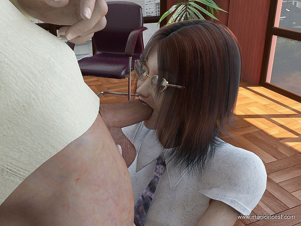 (magicincest) (father - daughter) Dad\'s new secretary