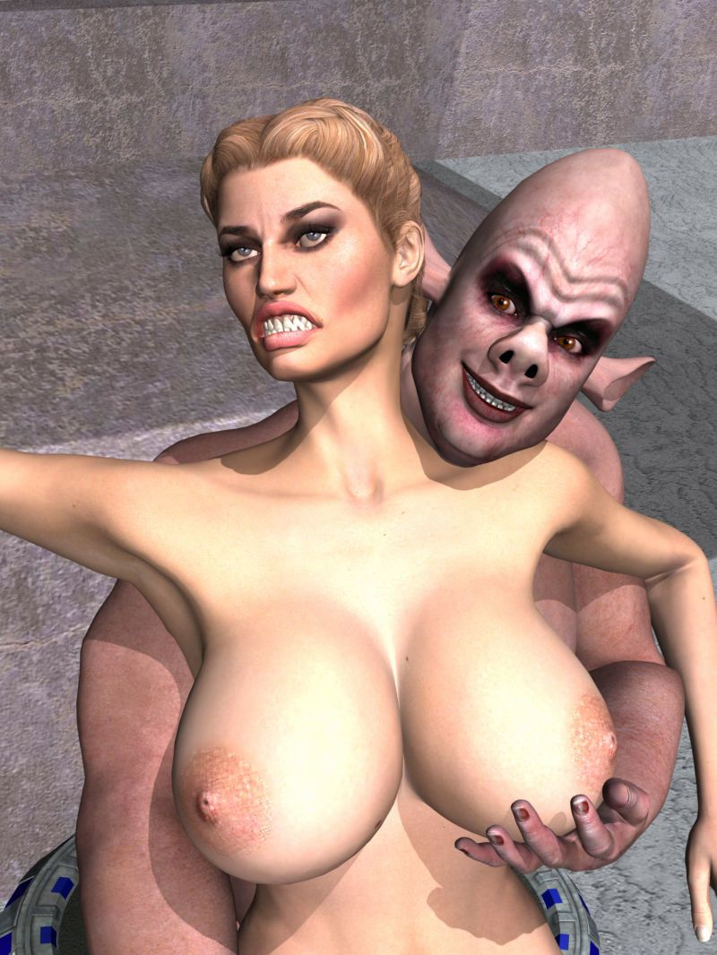 Breast Groping Monsters 3D style - part 2