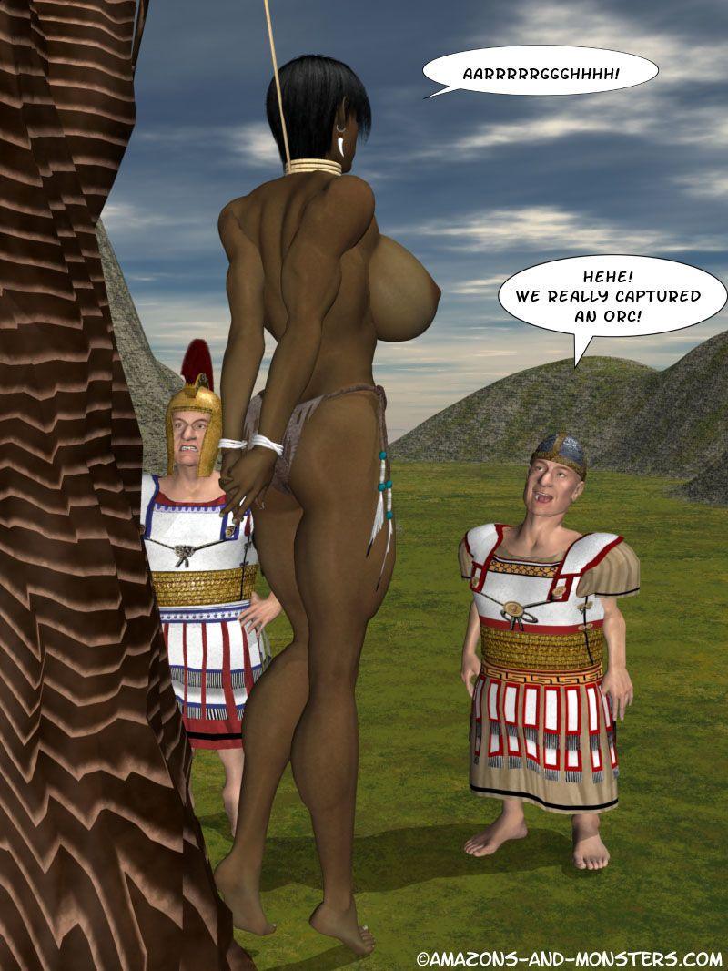 3D The Half Orc vs the Horny Little Hobbits