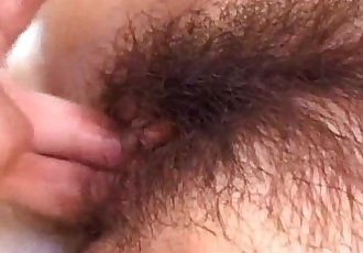 Yuri has hairy twat nailed and gets cumshot - 10 min
