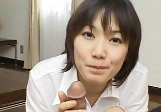 Alluring And Kinky Japanese Cutie Giving Head Seductively - 5 min