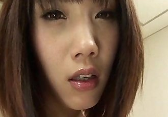 Perky titty babe Ageha Kinashita with her 2 guys in the living room having her h - 5 min