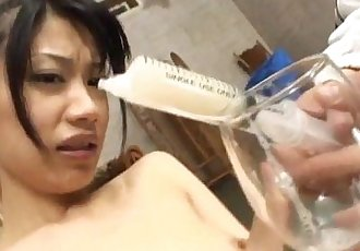 Miki Uehara gets sex toys and syringe with cum - 10 min