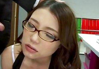Sweet Ibuki enjoys cock from behind while at work - 12 min