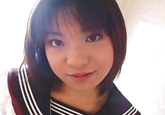 Pretty Japanese schoolgirl cumfaced uncensored - 7 min