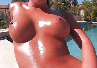 Asa Akiras Poolside Striptease - 8 min HD