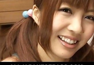 Pig-tailed oriental teen gets freaky on camera - 7 min