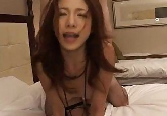 Kanako Tsuchiyo provides serious blowjob before hard sex - 12 min