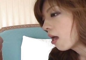 Yume Imano hot JP milf enjoying pussy play before making out with her guy and sucking cock - 11 min