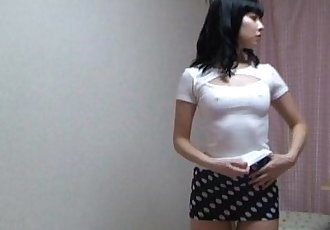 Peeping the private life of japanese slender girl by hidden cam. - 5 min
