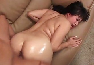 Very horny Asian milf rides big cock - 24 min