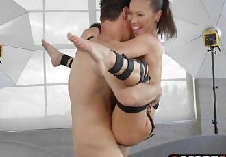Asian MILF Kalina Ryu dress up and get down on a big penis - 7 min