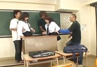 Konomi Adachi and gal get vibrators on crack and cocks in mouths - 10 min
