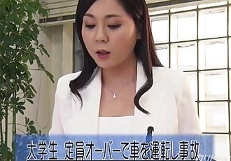 Asian News Reader Fingered While On Cam - 12 min