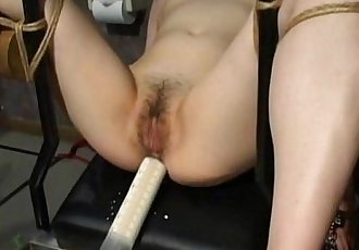 Asian slave tied up and toy fucked terrifically - 7 min