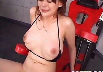 Asian milf, Rina Wakamiya, pumped in serious manners - 12 min