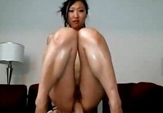 Sexy Japanese With Small Tits Riding Anal Dildo - 11 min