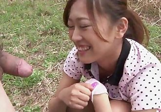 Japanese Teen Sucking Cock Outdoors - 10 min