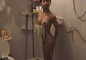 Nueng in the shower