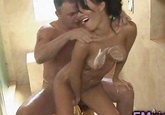 Asa Akira sexy handjob
