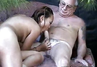 Uncle Jesse Gets His Cock Sucked By Asian Slut - 3 min