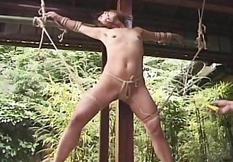 Japanese Bondage outdoor - 6 min