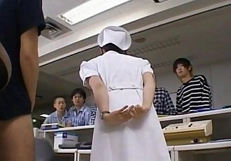 Yuki Mana nurse gets cum on face from men - 10 min