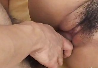 Saki Ogasawara sucks tool while riding another with hairy cooter - 10 min