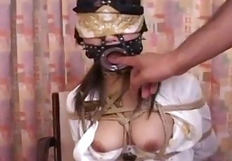 Asian Bitch with a Mouth Piece gets Used a Bit: Porn 50 - abuserporn.com - 8 min
