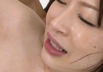 Riko Oshima cute babe nailed and made to swallow - 12 min