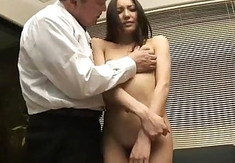 Nozomi Mashiros job interview includes tit and pussy sucking - 5 min