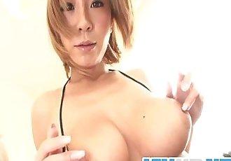 Big Titted Hottie Sumire Matsu Masturbates - 8 min
