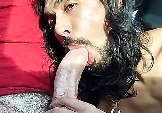 Deepthroat Huge Cock Cum in Car