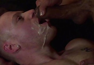 Gay hunk couple fuck till one is facializedHD