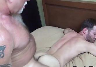 Bareback polar bear cums