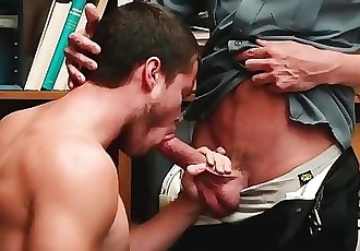 YoungPerps-Beefy Stud Fucked Hard by Mall Cop After Trying to Steal Gift