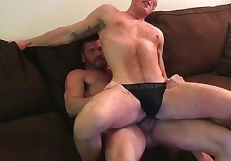 Billy and his twink share Jackson Coopers pussy