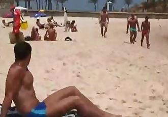 Lucas Lucky in the beach