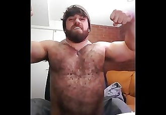 HUGE hairy muscle man come worship me at onlyfansdotcom/trojanmachine69
