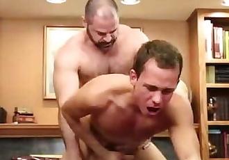 MormonBoyz- Beefy dad fucks young boy in his office