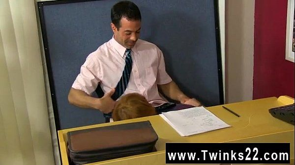 Hot gay scene Teacher Mike Manchester is working late, but he\